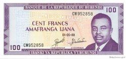 100 Francs BURUNDI  1988 P.29c NEUF