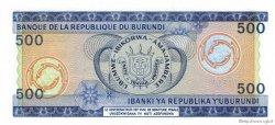 500 Francs BURUNDI  1986 P.30b pr.NEUF