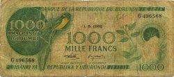 1000 Francs BURUNDI  1982 P.31b B+