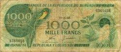 1000 Francs BURUNDI  1988 P.31d B+
