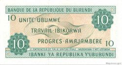 10 Francs BURUNDI  1981 P.33a pr.NEUF