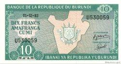 10 Francs BURUNDI  1983 P.33a NEUF