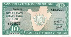 10 Francs BURUNDI  1986 P.33b NEUF