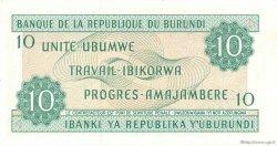 10 Francs BURUNDI  1988 P.33b NEUF
