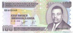 100 Francs BURUNDI  2006 P.37e NEUF