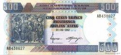 500 Francs BURUNDI  1997 P.38a NEUF