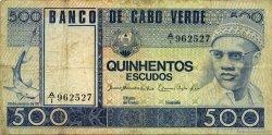 500 Escudos CAP VERT  1977 P.55a TB