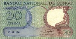 20 Francs CONGO (RÉPUBLIQUE)  1961 P.004a pr.SUP