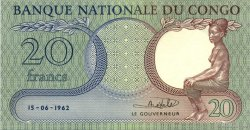 20 Francs  CONGO REPUBLIC  1962 P.004a