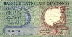 20 Francs CONGO (RÉPUBLIQUE)  1962 P.04a TTB