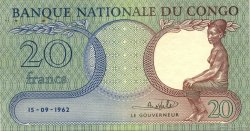 20 Francs CONGO (RÉPUBLIQUE)  1962 P.04a pr.SUP