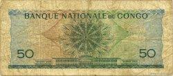 50 Francs CONGO (RÉPUBLIQUE)  1961 P.005a B+