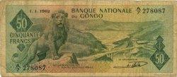 50 Francs CONGO (RÉPUBLIQUE)  1962 P.05a B+