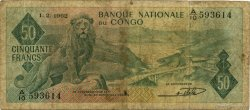 50 Francs CONGO (RÉPUBLIQUE)  1962 P.05a B