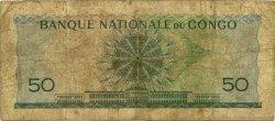50 Francs CONGO (RÉPUBLIQUE)  1962 P.005a B