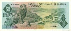 50 Francs CONGO (RÉPUBLIQUE)  1962 P.005a SUP