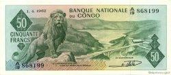 50 Francs CONGO (RÉPUBLIQUE)  1962 P.05a SUP+