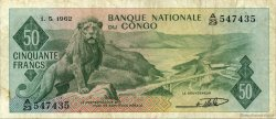 50 Francs CONGO (RÉPUBLIQUE)  1962 P.005a TB