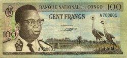 100 Francs CONGO (RÉPUBLIQUE)  1961 P.006a TB
