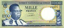 1000 Francs CONGO (RÉPUBLIQUE)  1961 P.08a pr.SPL