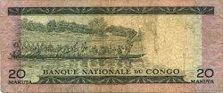 20 Makuta CONGO (RÉPUBLIQUE)  1967 P.10a B