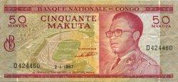 50 Makuta CONGO (RÉPUBLIQUE)  1967 P.11a TTB