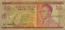 50 Makuta CONGO (RÉPUBLIQUE)  1970 P.011b B