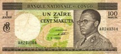 1 Zaïre - 100 Makuta CONGO (RÉPUBLIQUE)  1968 P.012a pr.TTB