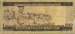 1 Zaïre - 100 Makuta CONGO (RÉPUBLIQUE)  1970 P.012b B