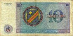 10 Zaïres CONGO (RÉPUBLIQUE)  1971 P.015a TB