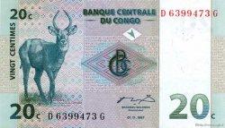 20 Centimes CONGO (RÉPUBLIQUE)  1997 P.83a SUP