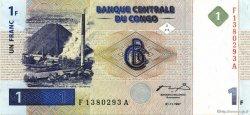 1 Franc CONGO (RÉPUBLIQUE)  1997 P.085a SUP