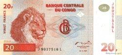 20 Francs CONGO (RÉPUBLIQUE)  1997 P.88A NEUF