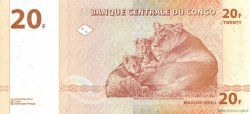 20 Francs CONGO (RÉPUBLIQUE)  1997 P.088A NEUF