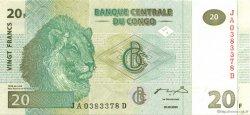 20 Francs CONGO (RÉPUBLIQUE)  2003 P.94 SPL