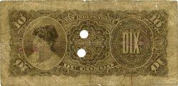 10 Francs CONGO BELGE  1896 P.01b pr.TB