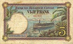 5 Francs CONGO BELGE  1924 P.08c TB+