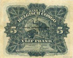 5 Francs CONGO BELGE  1944 P.13Ac TTB+