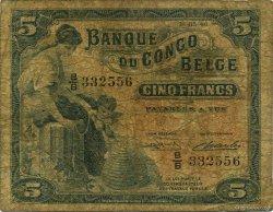 5 Francs CONGO BELGE  1949 P.13B B