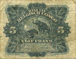 5 Francs CONGO BELGE  1949 P.13B TB