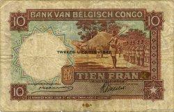 10 Francs CONGO BELGE  1942 P.14Ba pr.TB