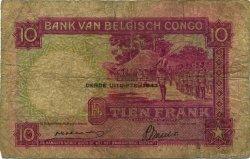 10 Francs CONGO BELGE  1943 P.14C B
