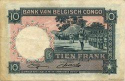 10 Francs CONGO BELGE  1948 P.14E TTB