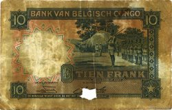 10 Francs CONGO BELGE  1949 P.14E B