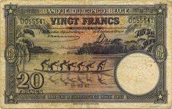 20 Francs CONGO BELGE  1942 P.15A