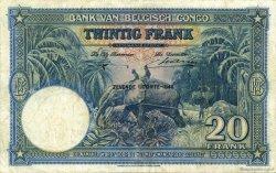 20 Francs CONGO BELGE  1948 P.15F