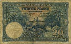 20 Francs CONGO BELGE  1950 P.15H B