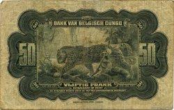 50 Francs CONGO BELGE  1941 P.16a B+