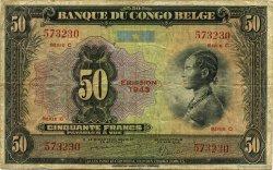 50 Francs CONGO BELGE  1943 P.16b TB
