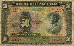 50 Francs CONGO BELGE  1945 P.16c B+